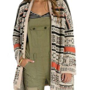 Billabong Aztec Trek Cardigan Sweater